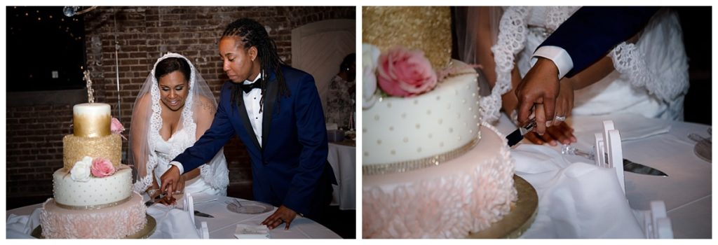 Cutting the cake - same sex wedding