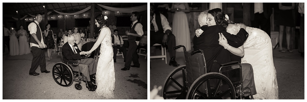 bride dancing with her grandfather