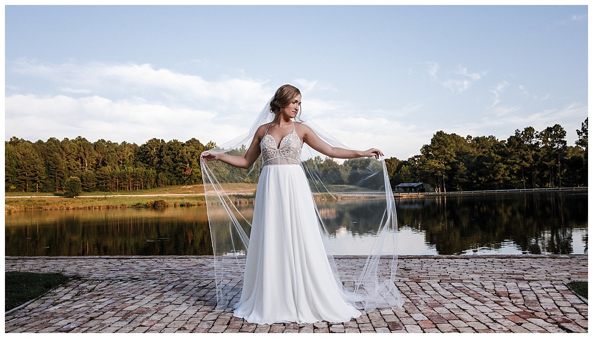 Bridal shoot by the water